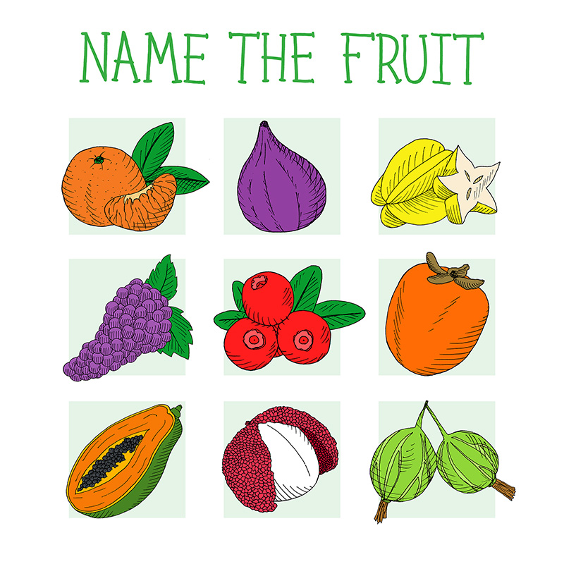 name the fruit quiz game for children