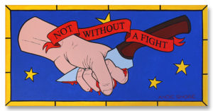 Not Without a Fight - original art LA